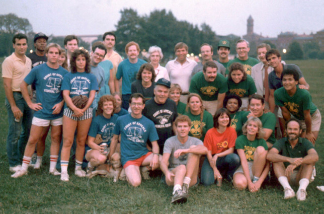 Federal Circuit Law Clerks vs Finnegan in Softball Game ca. 1985